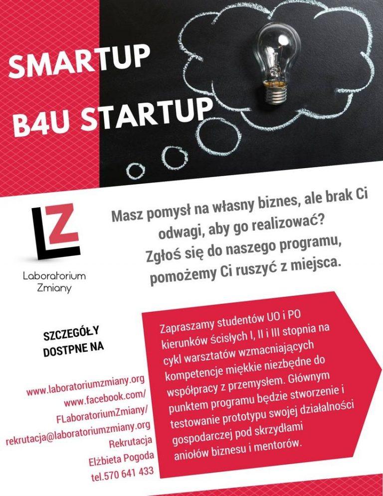 Blog strony Smartup B4u Startup