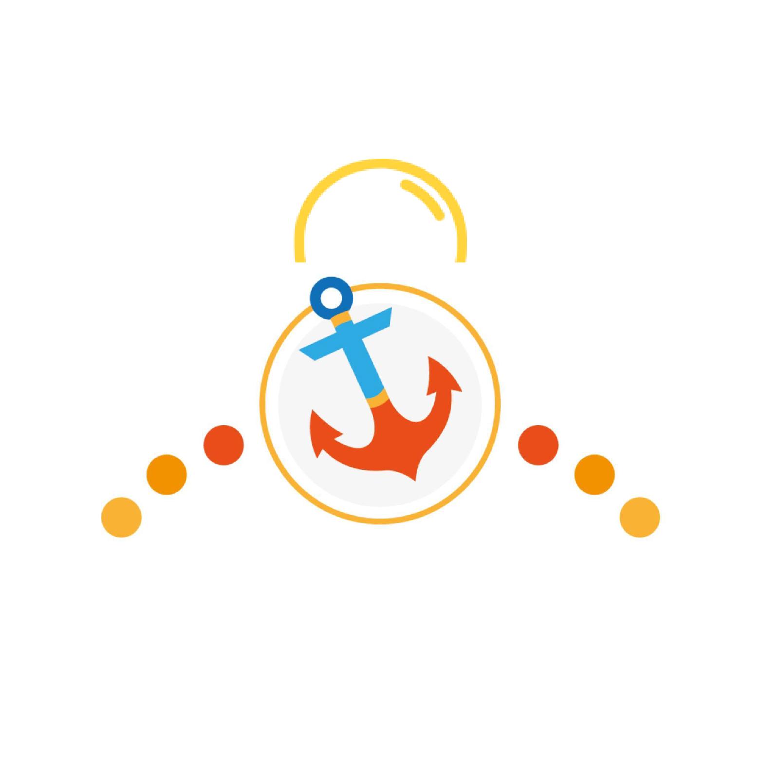 logo z rysunkiem kotwicy