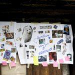 plakat z wycinków z gazet